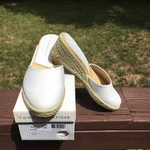White Tommy Hilfiger Mules
